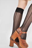 Astrid Net knee-highs