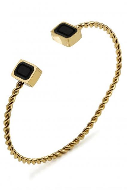 Grace Bangle Black/Gold