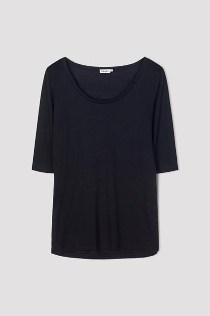 Tencel Scoop-neck Tee