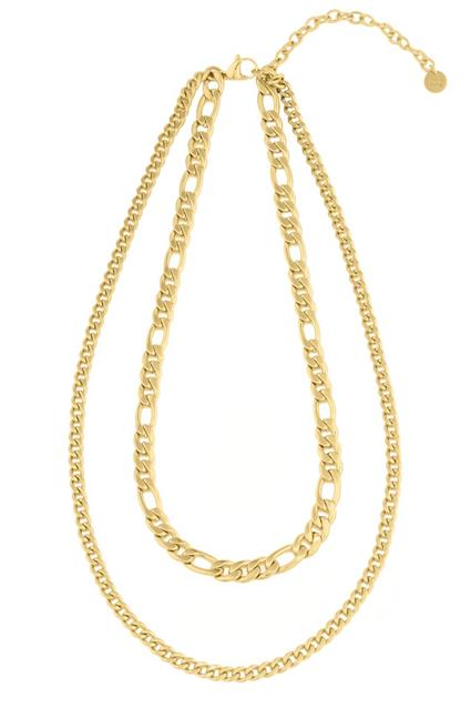 Figaro Duo Necklace Gold